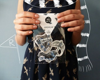 Ravenclaw sticker pack, Harry Potter, watercolor, Hogwarts, Luna Lovegood, horcrux, dumbledore,magic, Luna Lovegood, gift idea, potterhead