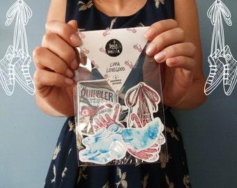 Luna Lovegood stickers pack, Harry Potter gift idea, Harry Potter collectible, patronus, quibbler,spectrespecs, Ravenclaw, Hogwarts, magic
