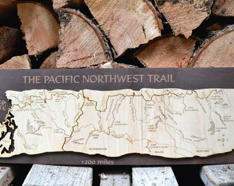 Pacific Northwest Trail Wood Map