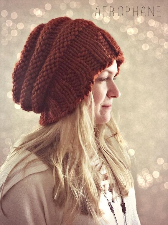e75c6df8685 Slouchy Beanie Knit Hat Knit Beanie Womens Knitted
