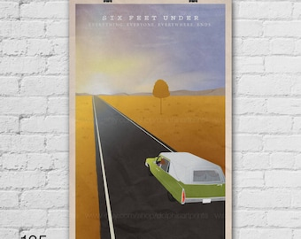 Six Feet Under Poster Claire Fisher He Fisher Sons Home Art Print Decor 13xx24 A1 Size Select A Size Item No 125