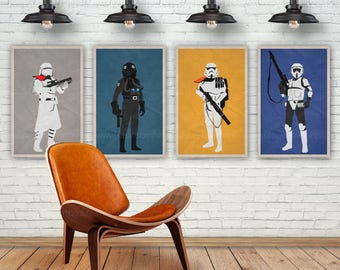 Star Wars Art Print. Storm Trooper. Pop Culture and Modern Wall Decor, 11x17, 13x19, 16x20, 18x24, A1 Size. Select a size. Item no. 029