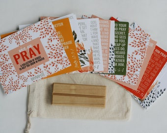 When You Pray, Verse Cards, ESV, Scripture Cards, Bible Memory Cards, Notecards, Christian Gift, Bible Verse Cards