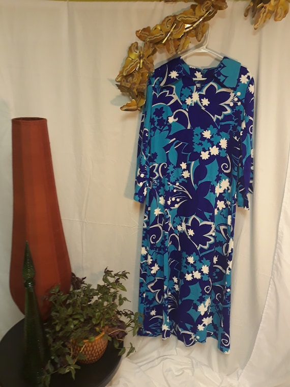 Vintage Hawaiian 1950's beach dress