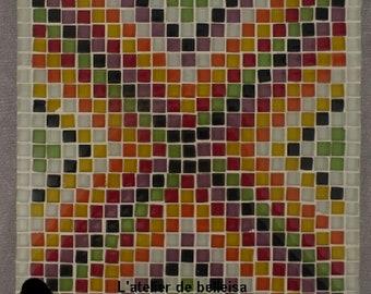 Multicolored mosaic trivet