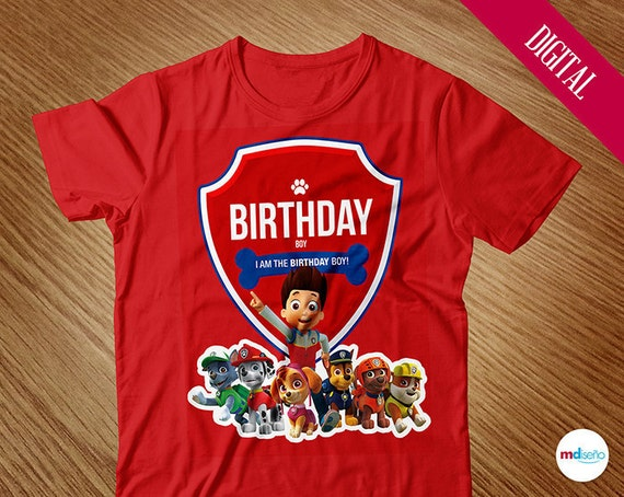 Rubble Paw Patrol Birthday Party Shirt Handmade and t bc7caea69fbd5