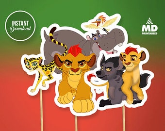 Lion Guard Printable Center Piece, Birthday Party Theme Favors, DIY Candy Bar Package, Clipart, Decoration, Set, Lion Guard Instant Download