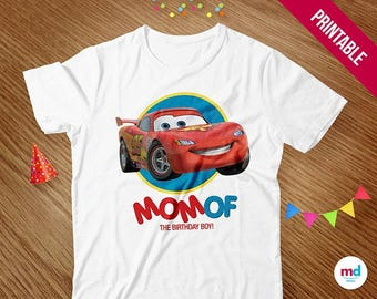 Cars Iron On T Shirt Transfer MOM - Cars Printables - Cars INSTANT - Cars Lighting McQueen Birthday Party Theme