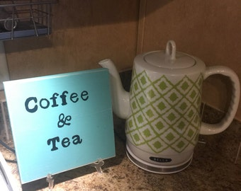 Coffee Tea sign Perfect for coffee bars vintage looking