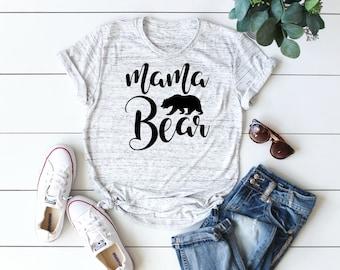 Mama Bear Shirt, Mama Bear TShirt, UNISEX, Floral Mama Bear Shirt, Mom Shirt, Mother's Day Shirt, Baby Shower Gifts for Mom