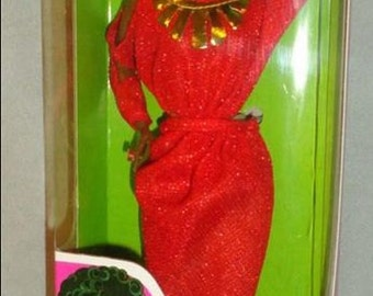 VINTAGE 1979 First black Barbie doll disco afro red dress mattel 1293 new nrfb rare item!