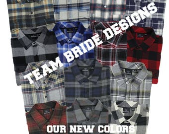 Bridal Party Flannels Bridesmaid Flannels Wedding Flannels Wedding Prep Wedding Getting Ready Bachelorette Party Shirts