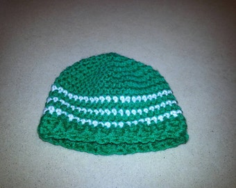 Striped Hat Beanie Custom (NB 0-3 Mth 3-6 Mth 6-12 Mth 1-2 Yr 2-4 Yr Child)