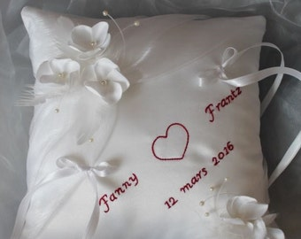 Pillow small flowers, personalized