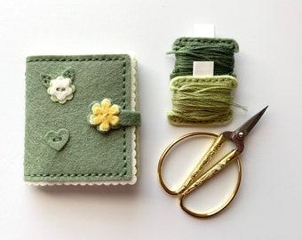 DMC Vintage Needle Case Pendant Needle Holder Sewing Accessories Needle Minder Metal Storage Case Cross Stitch Needle Storage