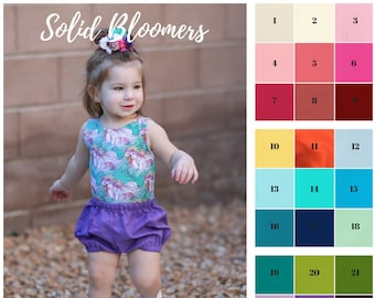 Basic Bloomers, Solid Color Bloomers, Bloomers, Diaper Cover, Bloomies, Baby Bloomers, Nappy Covers, Bubble Bloomers, Bummies