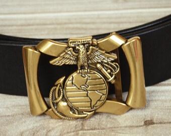 Alliage de métal massif ceinture boucle or couleur Eagle B5758 72bbf6caf7b