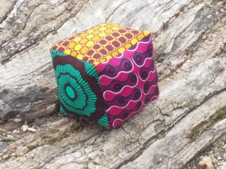 African Print Baby Building Block image 0