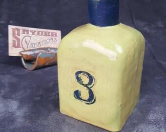 Green #3 Apothecary Bottle