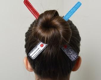 Lite Sword Bun Pal Hair Accessory - Hair Pin - Bobby Pin - Hair Decoration - Sports - Clip - Hair Clip - Seasonal - Barrette