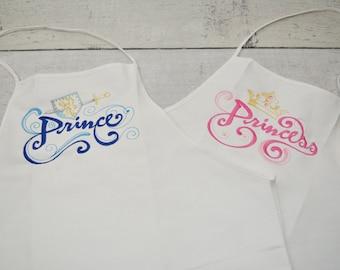 Prince and Princess Adult Aprons