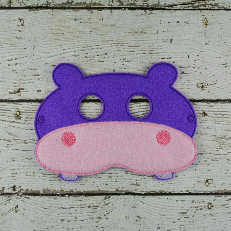 Máscara hipopótamo infantil disfraz teatro por Favor