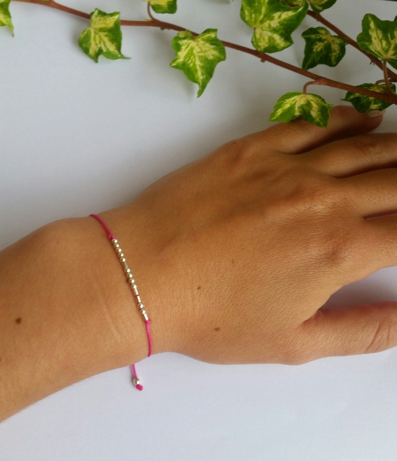 sterling silver gold filled SISTER morse code bracelet CUSTOM morse code bracelet silk bracelet secret message morse code bracelet gift