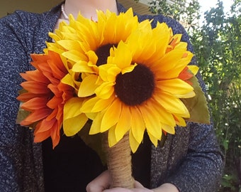 Sunflower Wedding Bouquet/Artificial Sunflower Bouquet