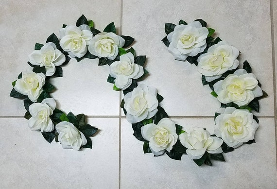 Rose Wedding Arch Flowers Fabric White Rose Garland Swag Etsy