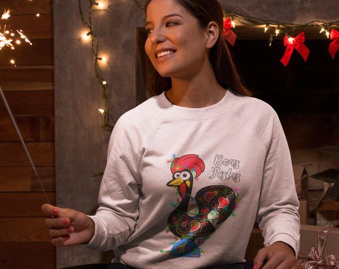 Featured listing image: Boas Festas Rooster Sweatshirt (Unisex)