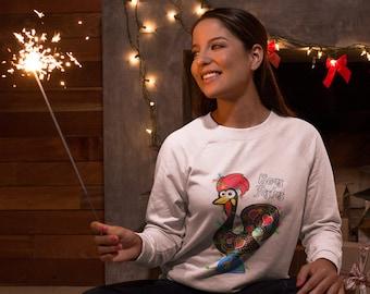 Boas Festas Rooster Sweatshirt (Unisex)