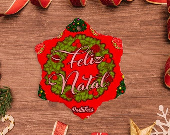 Feliz Natal Star Ornament