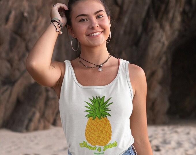 Pineapple Racerback Tank Top (Womens)