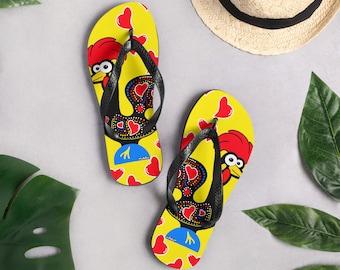 Barcelos Rooster Flip-Flops