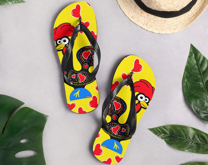 Featured listing image: Barcelos Rooster Flip-Flops