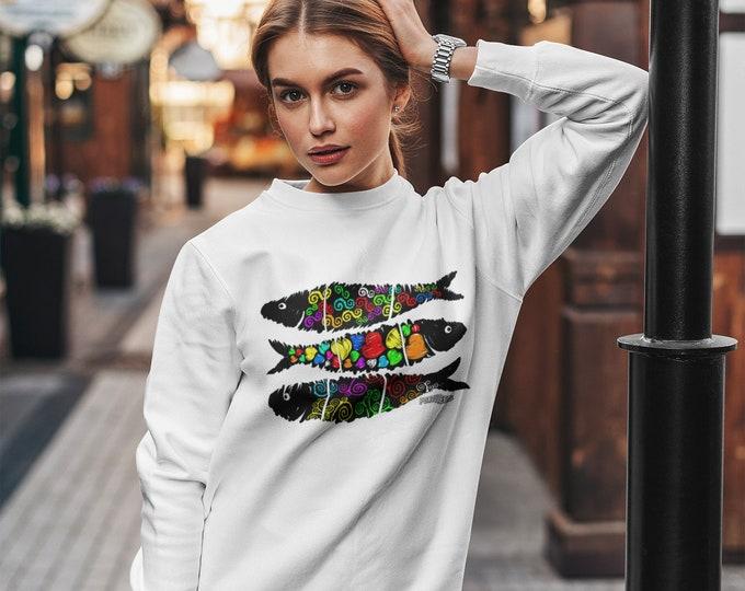 Sardines Street Art Sweatshirt (Unisex)