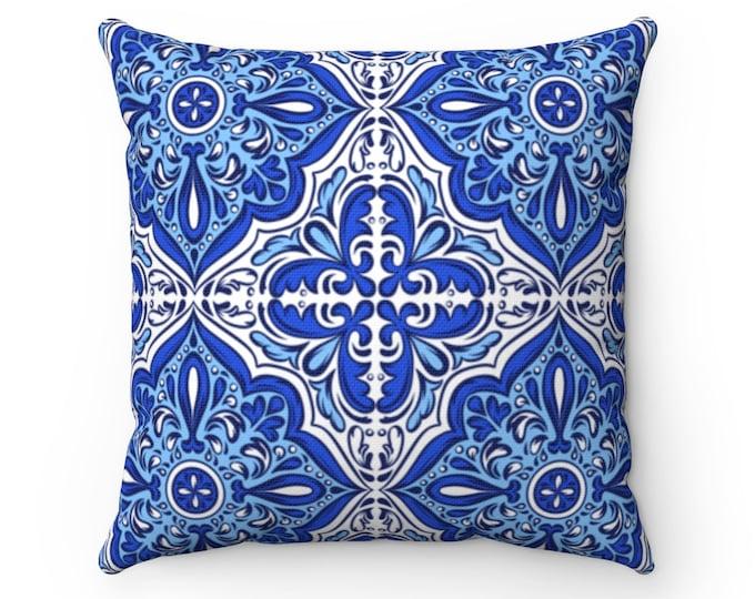 Azulejos Spun Polyester Square Pillow