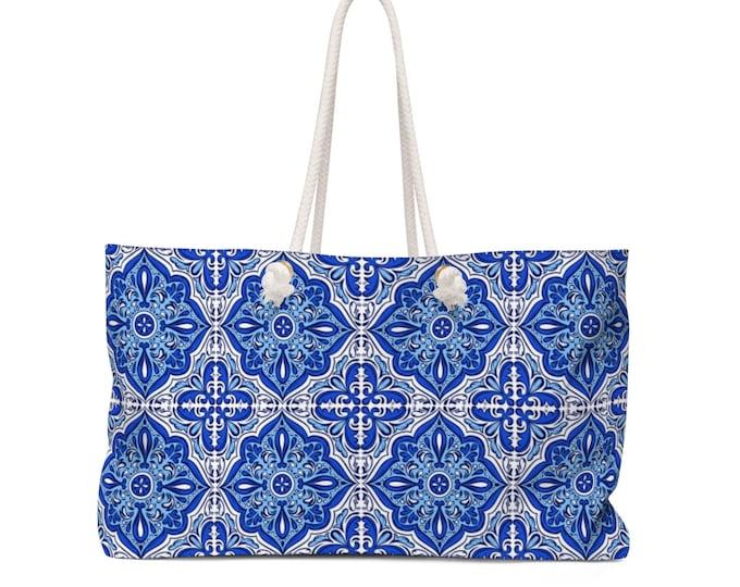 Azulejo Weekender Beach Bag