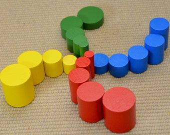 Puzzle éducatif en bois Montessori / cylindres knobless set / enfants cadeau / d'été d'apprentissage jouet / enfant occupé sac
