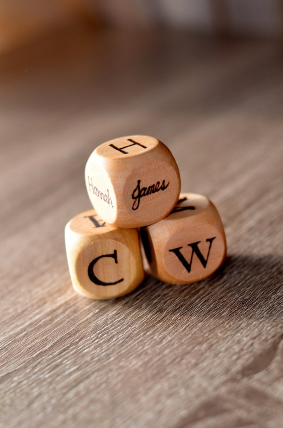 Personalized task dice  kids dice  personalized name dice  party gift  family gift