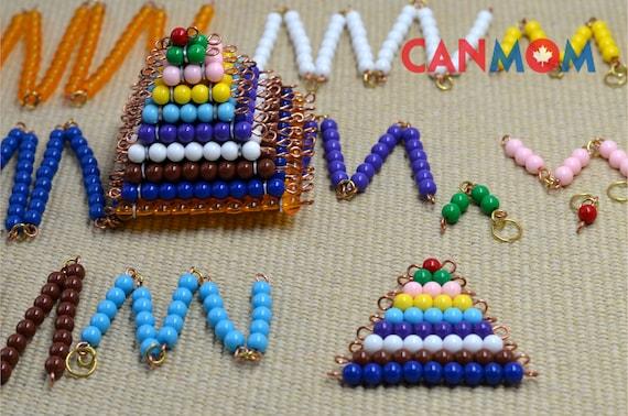 Montessori-farbigen Perlen Set / Vorbereitung für | Etsy