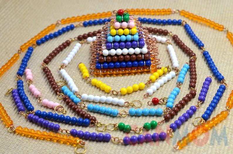 Montessori short bead chains / Math educational learning image 0