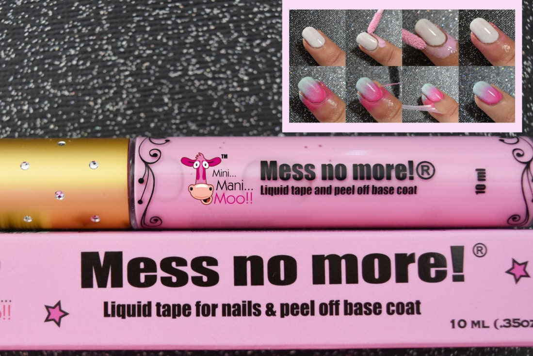 Mess no more! THE ORIGINAL Liquid tape for nails from MiniManiMooo ...