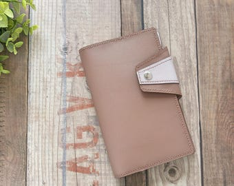 Leather notebook A6 case, bullet journal, agenda, planner, gift for women, mother day, leather, minimalist