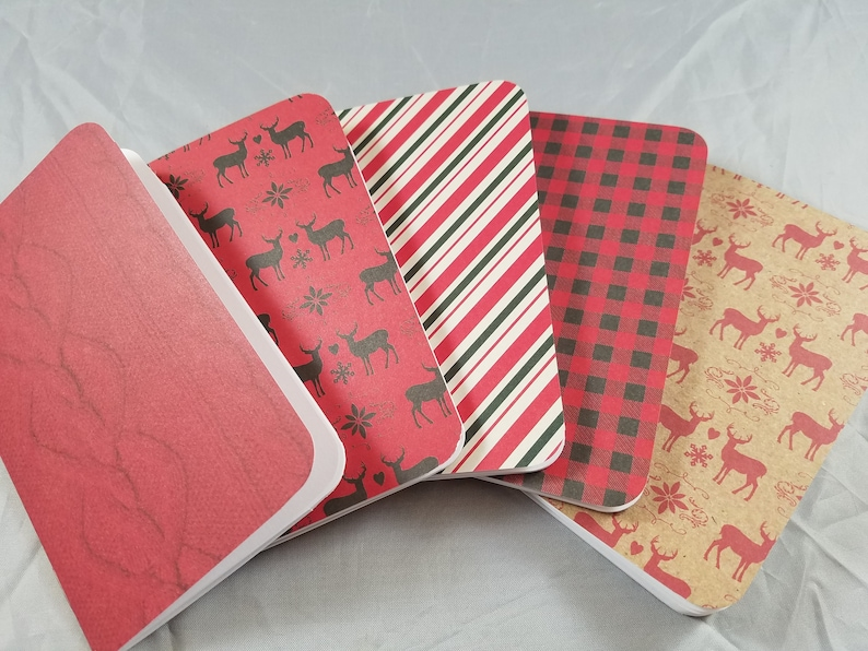 3x5 32 Page Handmade Blank Notebook  Red image 0