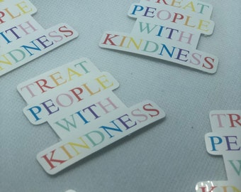 TPWK Treat People With Kindness Decal retro font car accessories