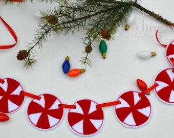 Peppermint Banner, Peppermint decor, Christmas Decor