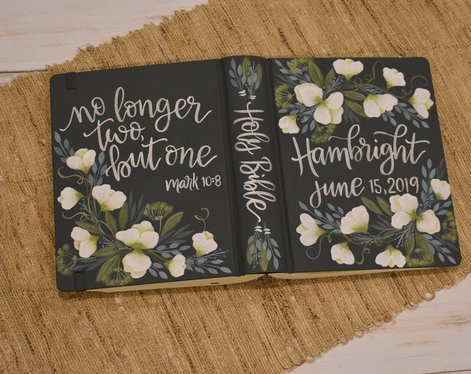 Hand Painted Bible // Specialized Floral Design // Sweet Pea Florals // Personal Keepsake