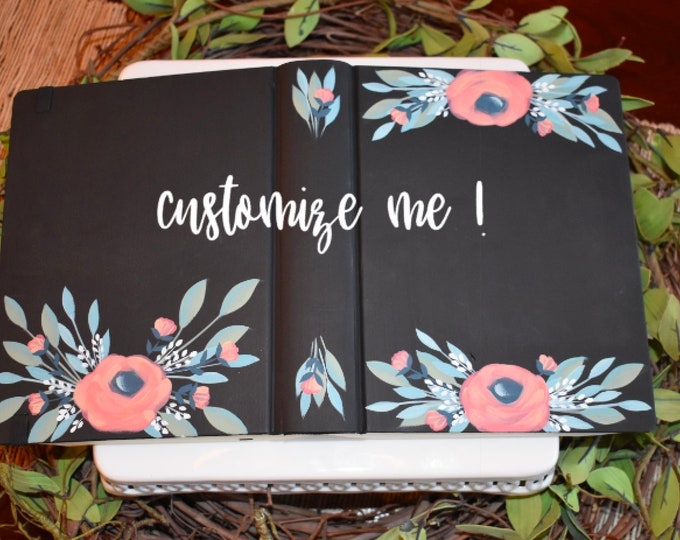 Custom Hand Painted Bible | Customize with scripture | Personalize with names | Wedding | Baptism | Personalized Keepsake