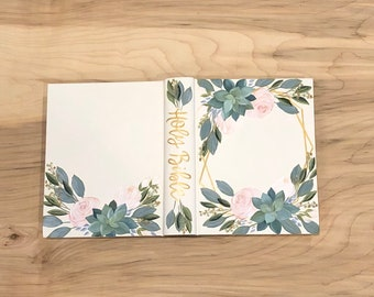 Custom Hand Painted Bible // Specialized Floral Design // Succulents // Personalized Keepsake